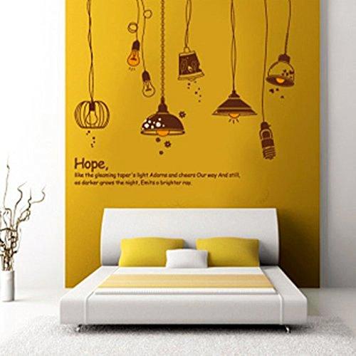 Decals Design 'Crazy Lamps' Wall Sticker (PVC Vinyl, 50 cm x 70 cm)