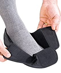 Mens Extra Extra Wide Slippers - Swollen Feet - VELCRO brand Diabetic & Edema - Black 11