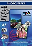 A3 Inkjet Photo Glossy Paper - Heavyweight Premium - 260gsm x 100 Sheets