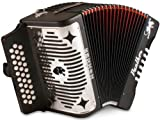 Hohner Panther F/B/E 3-Row Diatonic Accordion - Black