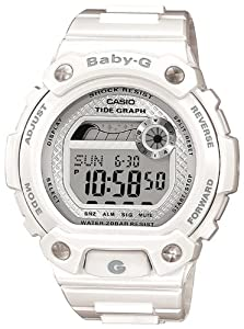 Casio BLX-100-7ER Ladies Watch Quartz Digital White Dial White Resin Strap