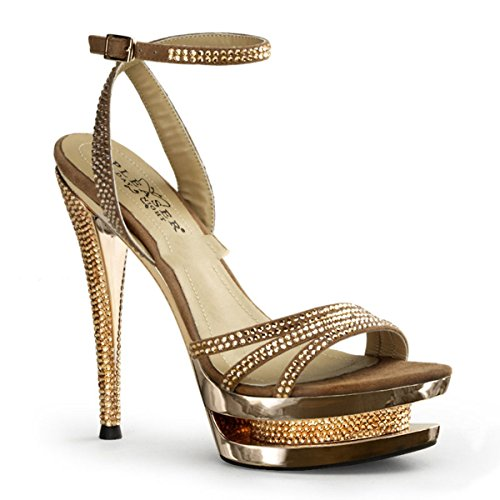 Pleaser Day & Night ,  Scarpe col tacco donna Oro gold 37 (US-7)
