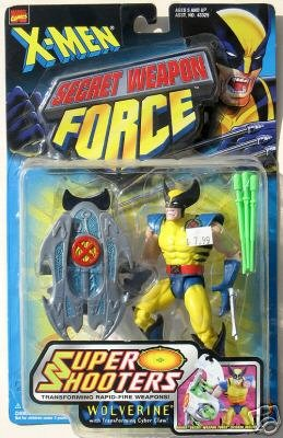 X-Men Secret Weapon Force Super Shooter Woverine with transforming cyber claw - 1