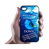 HOT SALE ON guooneshop NOW!Keep Calm and Just Keep Swimming iPhone 4/4s Case - Hard Plastic Cell Phone Case,BUY IT NOW!