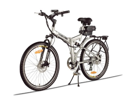 Extreme Folder Electric Mountain Bicycle (Silver - Brush Alloy Aluminum)