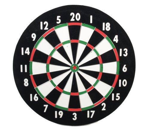 CLASSIC OLD ENGLISH STYLE 18 INCH DOUBLE SIDED DARTBOARD + 6 BRASS DARTS by Classic Game Collection günstig kaufen