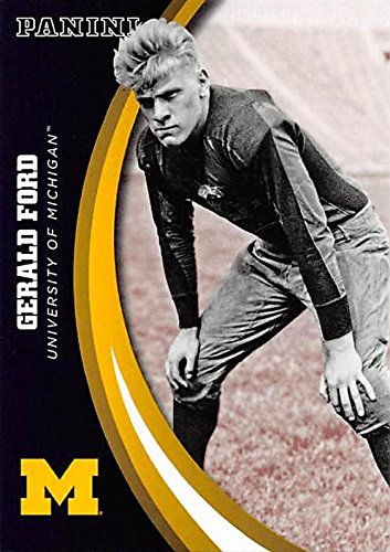 Gerald Ford football card (Univerity of Michigan Wolverines, President of the United States) 2015 Panini Team Collection #17 (Gerald Ford Autograph compare prices)