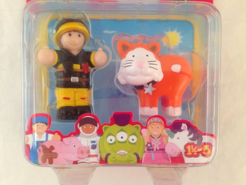 Best Buddies 2 Figure Set Fireman with Cat Friend - 1