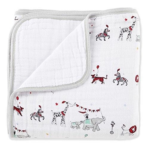 aden + anais (エイデンアンドアネイ) 【日本正規品】 モスリンコットン クラシック・ドリーム・ブランケット vintage circus - circus parade + white dream blanket 6044
