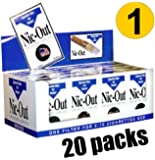 Nic-Out Cigarette Filters For Smokers, 30 Filters - 20 Packs Wholesale