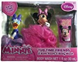Disney Minnie Tub Time Friends 3 Pcs Bath Gift Set- Includes 2 Bath Poufs & Body Wash Cotton Candy Scented. Disney Minnie Mouse & Daisy Duck Tub Toy Friends