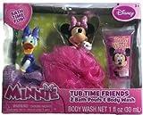 Disney Minnie Tub Time Friends 3 Pcs Bath Gift Set- Includes 2 Bath Poufs & Body Wash Cotton Candy Scented. Disney Minnie Mouse & Daisy Duck Tub Toy Friends