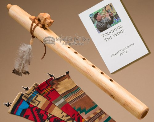Native American Flute -Natural Buffalo & Bag