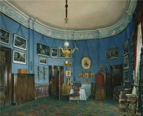 hau-edward-petrovichinteriors-of-the-small-hermitagethe-bedroom-of-crown-prince-nikolai-ale1807-1887