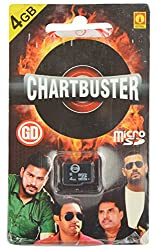GD Memory Card Charbuster 4 GB With Card Reader (Green, GM03)