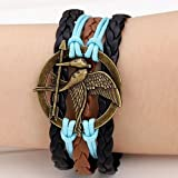 JS Direct 1x Multilayer Antique Retro Vintage Silvery Cupid Arrow Bracelet,Love Bracelet