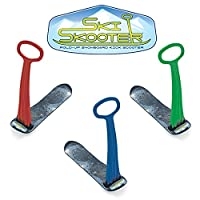 Ski Skooter Fold-up Snowboard Kick-Scooter for Use on Snow & Grass from Geospace