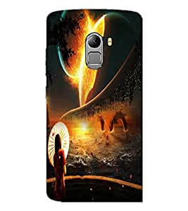 PrintDhaba Abstract Image D-4343 Back Case Cover for LENOVO VIBE X3 LITE (Multi-Coloured)