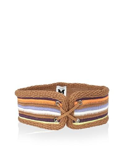 M Missoni Women's Multi Striped Lace-Up Belt