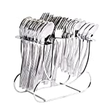 Shapes Alpine Cutlery Set Of Spoons And Fork 24 Pcs. With Round Stand
