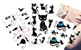 Sexy Cat Lower Back , Shoulder, Neck, Arm Temporary Tattoos Waterproof Removable