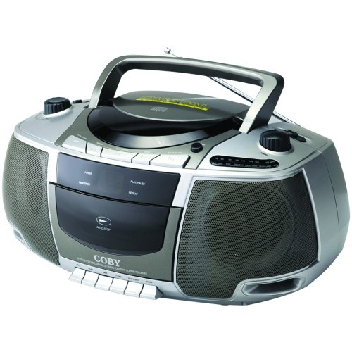 Coby CX-CD248 Portable Boombox with CD Player, Cassette Deck, and AM/FM Tuner