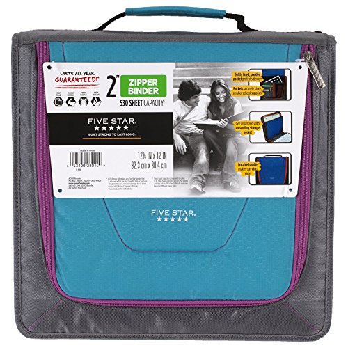 five-star-zipper-binder-tech-pocket-2-teal-gray-12-3-4-x-12-73248