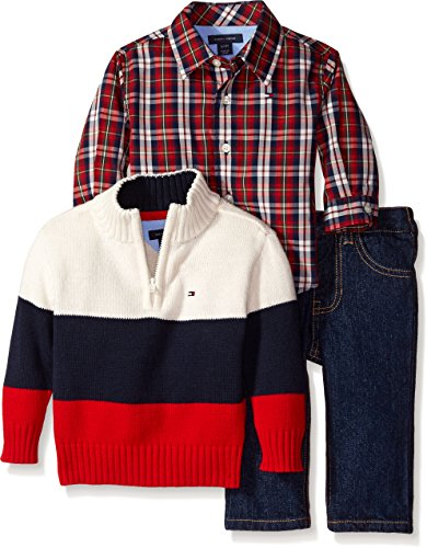 Tommy Hilfiger Baby Boys Newborn Dominc 3 Piece Set Ivory