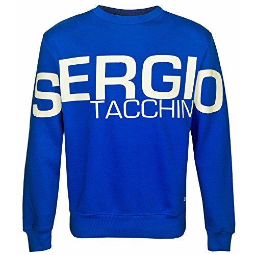 Sergio Tacchini da uomo con Logo Felpa girocollo Blue Small