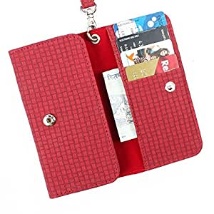DooDa PU Leather Case Cover For Lenovo A859 (Red)