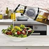 Oil Dispenser by Harbor Creek - 16oz Press & Measure Glass Infuser Bottle with Portion Control - Cruet for Olive, Coconut, MCT, Vegetable, Cooking & Infusing Oil, Vinegar, & Salad Dressing [1-Pack]
