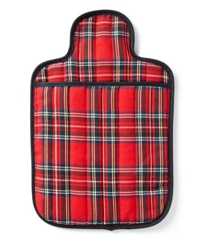 Hotties Microhottie Microwave Hot Water Bottle - Quilted Royal Stewart Tartan - Red