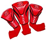 Team Golf 22694 North Carolina State University 3 Pack Contour Fit Headcover