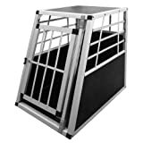 "Alu Hundetransportbox Transportbox Auto 75x55x69cm in Silbervon ""Leopet�"""