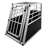 "Alu Hundetransportbox Transportbox Auto 75x55x69cm Hundebox in Silber Autohundeboxvon ""Leopet�"""