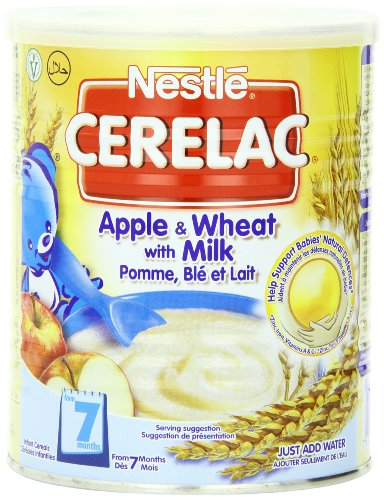 Nestle Cerelac, Apple And Wheat With Milk, 400 Gram Can (Pack Of 24)
