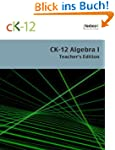 CK-12 Algebra I Teacher's Edition
