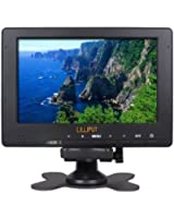 """Lilliput 667GL-70NP/H/Y LCD de 7 """"Portable petit champ de surveiller Full HD 1080p avec sortie HDMI, YUV, entrées vidéo RCA pour les caméras vidéo professionnelles"""