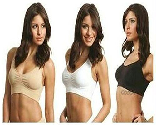 Cpixen Seamless Set Of 3 Air Bra Total Comfort (White,Black And Skin Color)