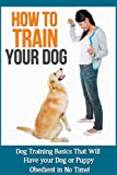 How to Train Your Dog: Dog training basics that will have your dog or puppy obedient in no time!