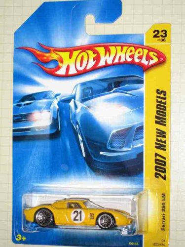 2007 New Models -#23 Ferrari 250 LM Yellow #2007-23 Collectible Collector Car Mattel Hot Wheels 1:64 Scale