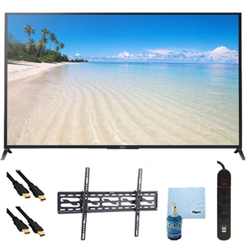 "60"" 1080P 120Hz Smart 3D Led Hdtv Wifi Plus Tilt Mount Hookup Bundle Kdl60W850B. Bundle Includes Tv, Flat Tv Mount, 3 Outlet Surge Protector W/ 2 Usb Ports, 2 -6 Ft High Speed Hdmi Cables, Performance Tv/Lcd Screen Cleaning Kit, And Cleaning Cloth."