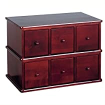 Apothecary Style CD Storage Cabinet, Cherry