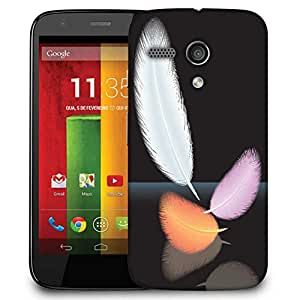Snoogg Feathers Vector Designer Protective Phone Back Case Cover For Motorola G / Moto G