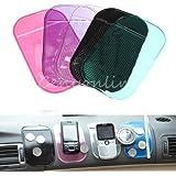 Car Dashboard Magic Anti Slip Non slip Sticky Pad Mat for Cellphone Key Holder (Pink)