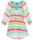 My Michelle Big Girls' Chevron Chiffon Dress