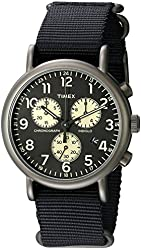 Timex Men's TW2P715009J Weekender Collection Stainless Steel Watch With Black Nylon Band