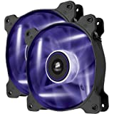 Corsair Air Series AF120 LED Quiet Edition High Airflow Fan Twin Pack - Purple (CO-9050016-PLED)
