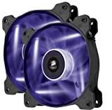 Corsair Air Series AF120-LED 120mm Quiet Edition High Airflow LED Fan - Purple (Dual Pack)
