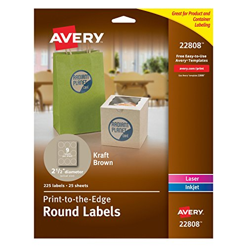 avery permanent print to the edge round labels laser With avery round stickers 1 inch